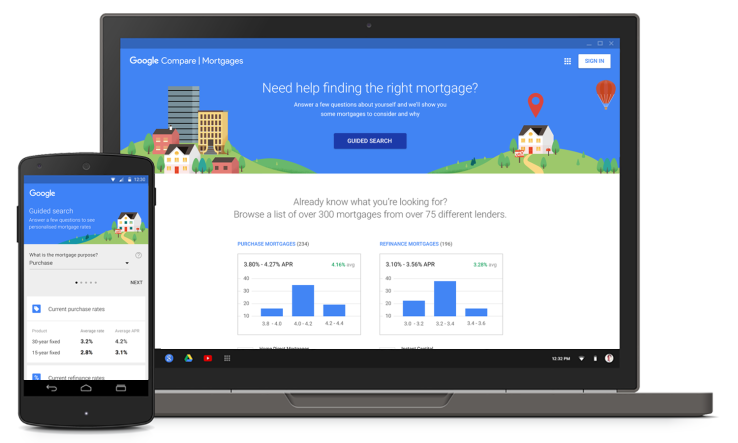 Google Launches Mortgage Shopping Tool In California More States Coming Soon Techcrunch Mortgage Comparison Mortgage Brokers Mortgage