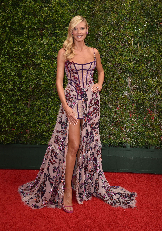 f60b6e522705 Heidi Klum in Atelier Versace on the Creative Arts Emmy Awards red carpet.