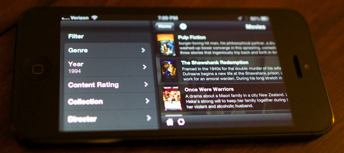 Plex just released a version for iOS 3.1. Filters app