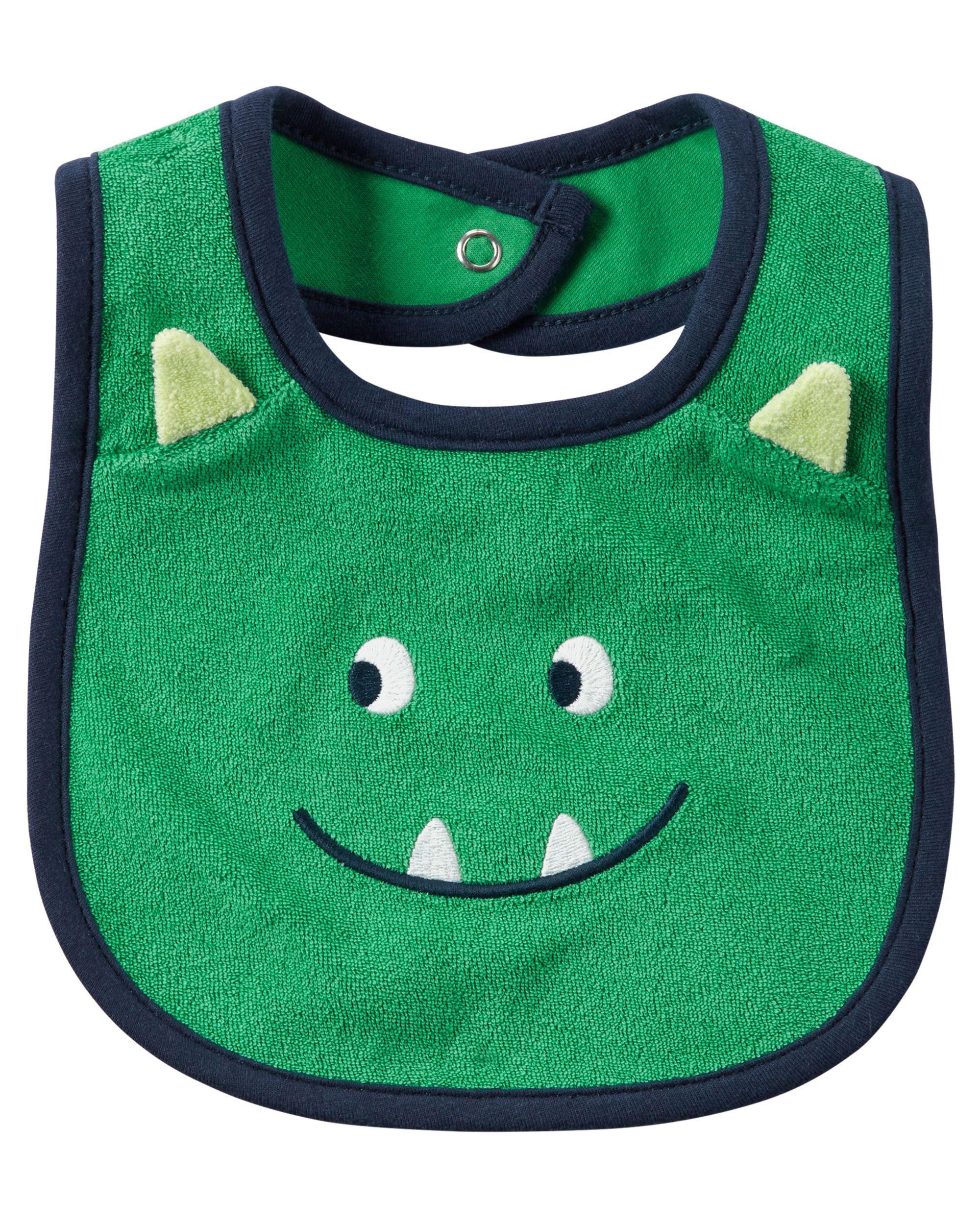 936503e4e Baby Boy Monster Teething Bib   Carters.com   Baby   Teething bibs ...