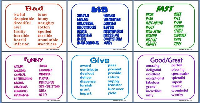 Overused Word Substitutes