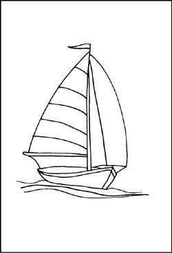 Kostenlose Malvorlagen von Schiffen und Booten Segelboot