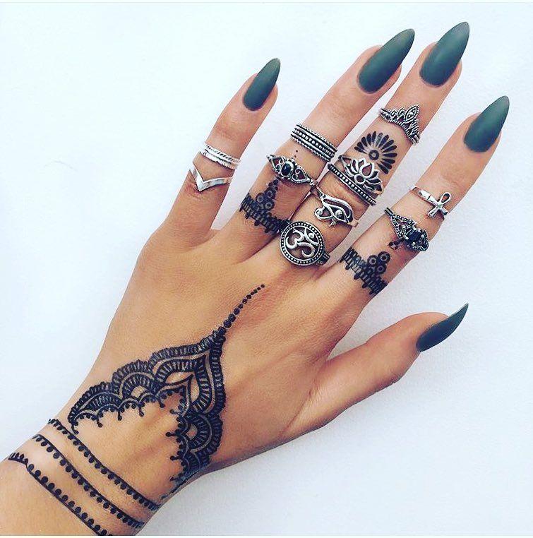 Nail Art Henna: Henna Nails, Henna Tattoo