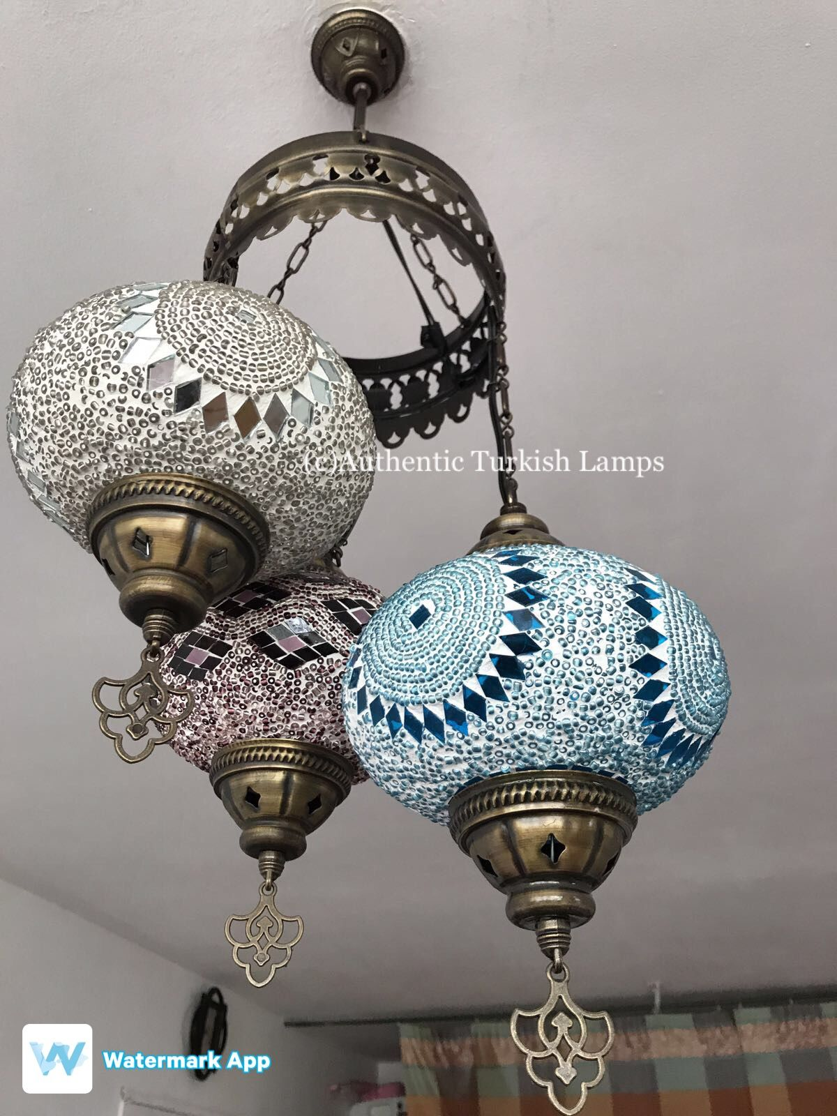 Pin by Authentic Turkish Lamp on Mosaic Chandelier