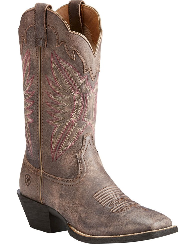 4f716d7092f Ariat Women's Chocolate Round Up Outfitter Tack Room Boots - Square ...