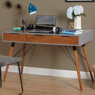 george oliver vacca desk products mid century desk grey desk desk rh pinterest com