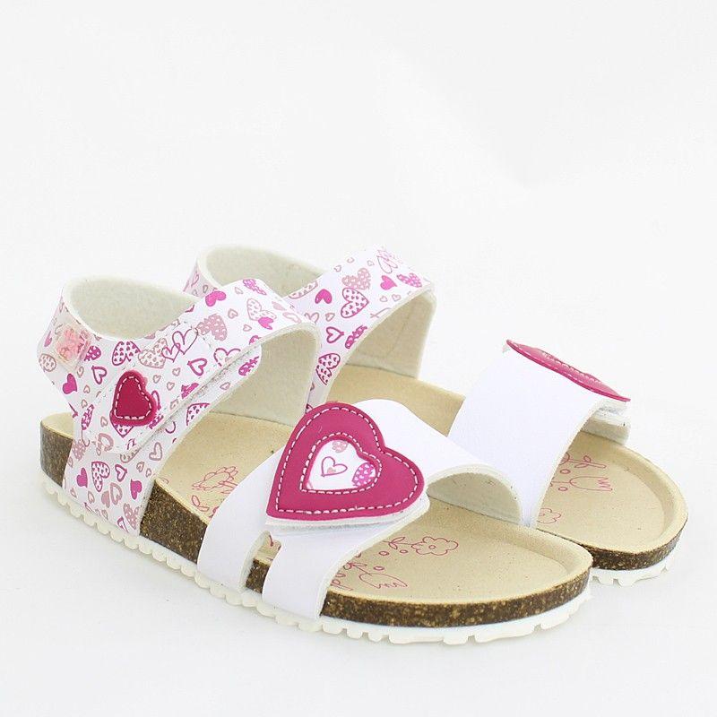 Garvalin 202661 A Buty Dla Dzieci Sandaly Na Korku Biale Sandal Espadrille Palm Beach Sandals Beach Sandals