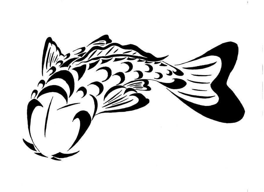 Tribal Koi Fish Tattoo Design Koi Fish Tattoos Tatuajes Hombres