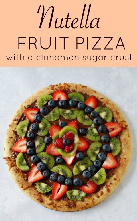 Nutella Fruit Pizza - Princess Pinky Girl