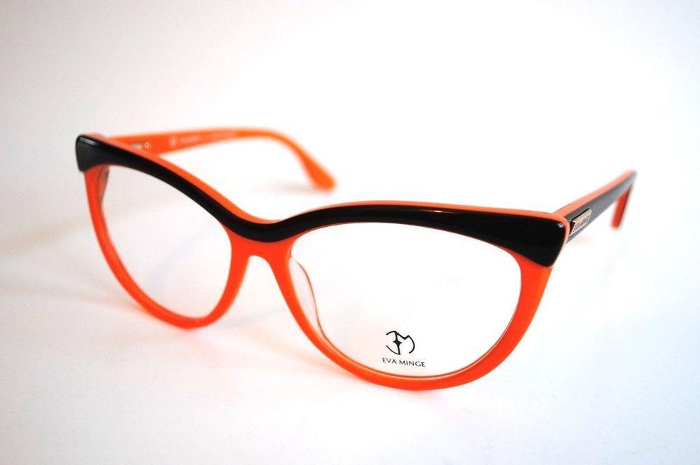 Eva Minge Designer Eyeglass Frames! (Model-EM 1101) (Marbled Brown ...