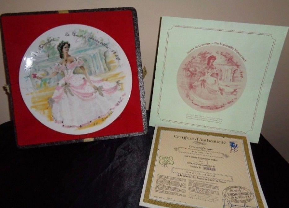 Scarlet en Crinoline - la Femme inaccesible 1865 by D'Arceau Limoges  Plate I