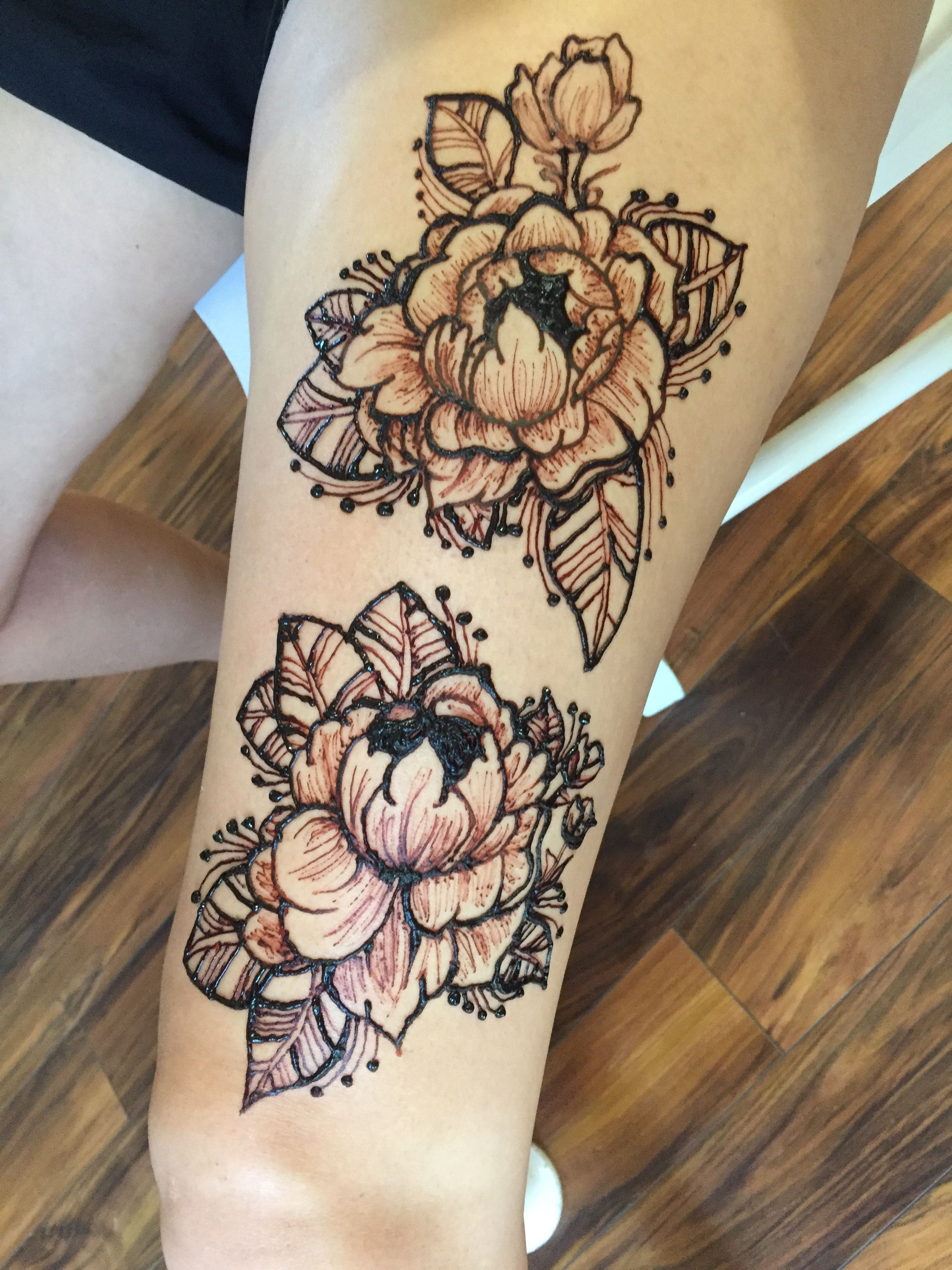 Cool Henna Tattoo Designs: Peony Henna Tattoo For The Summer! Inspired By