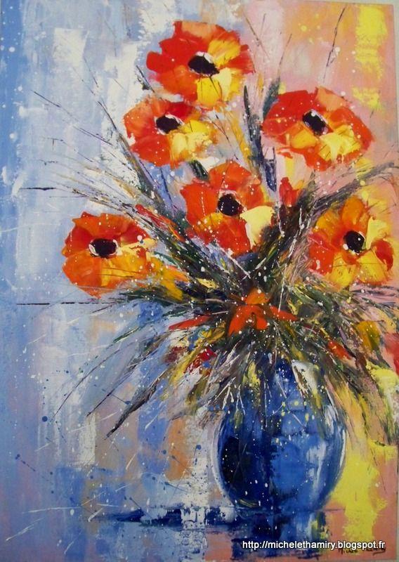 Http bouquet contemporain - Peinture contemporaine au couteau ...