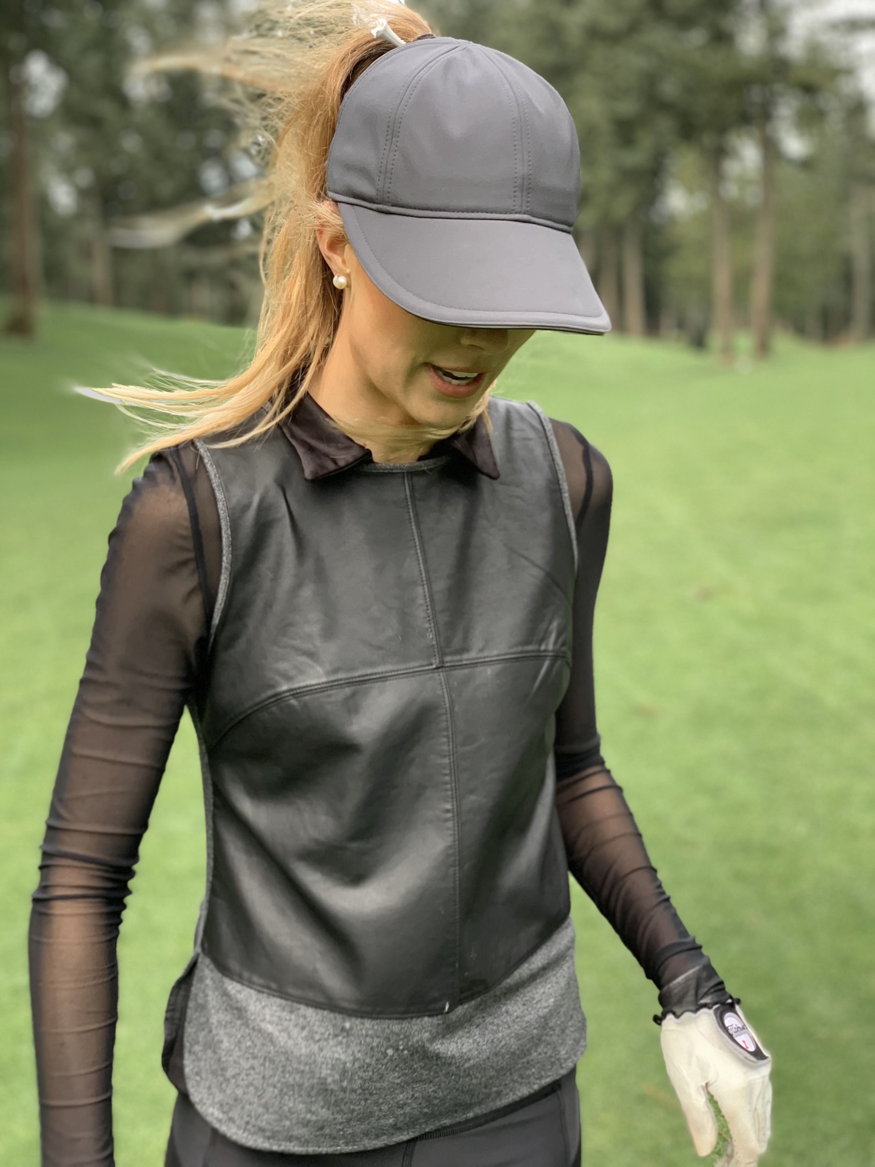 High Ponytail Hat For Women With Wider Brim Perfect For Golf Hat Fashion Athletic Wear Ponytail Hat