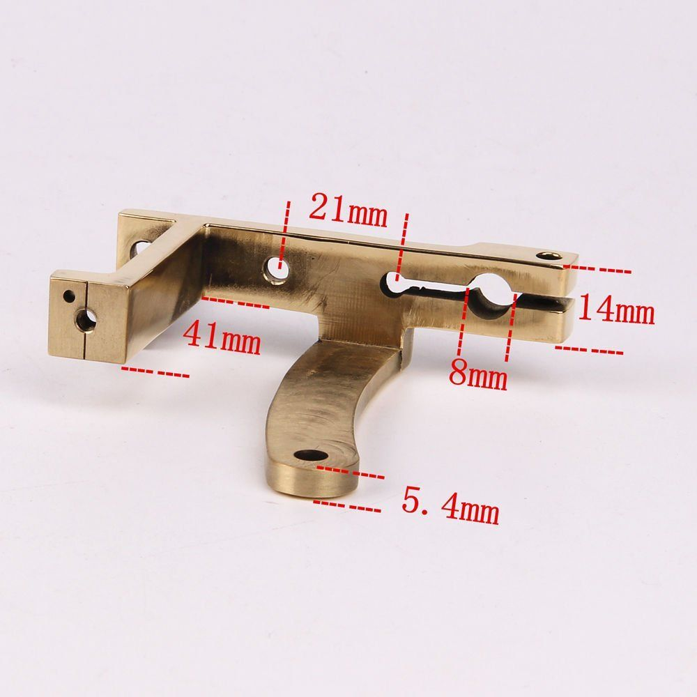 Cnc carved brass tattoo machine part frame for shader