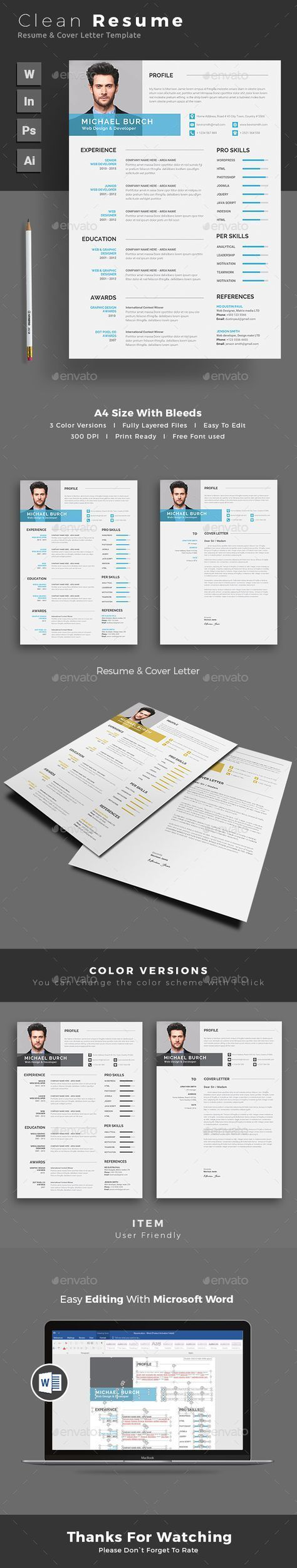 Resume by themedevisers Resume Word Template