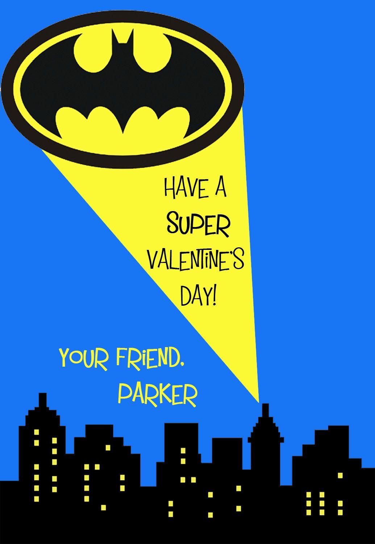 Batman Valentine's Day Cards