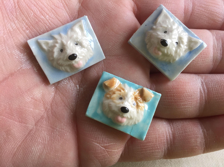 Mosaic Tile Dog Face Porcelain Ceramic | Mosaics, Porcelain and ...