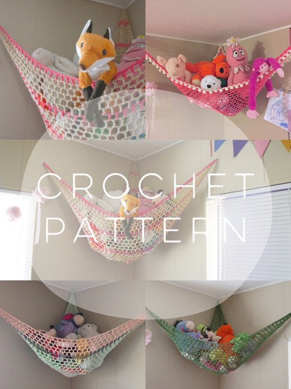 PDF CROCHET PATTERN / Customizable Stuffed Animal Hammock / Soft ...
