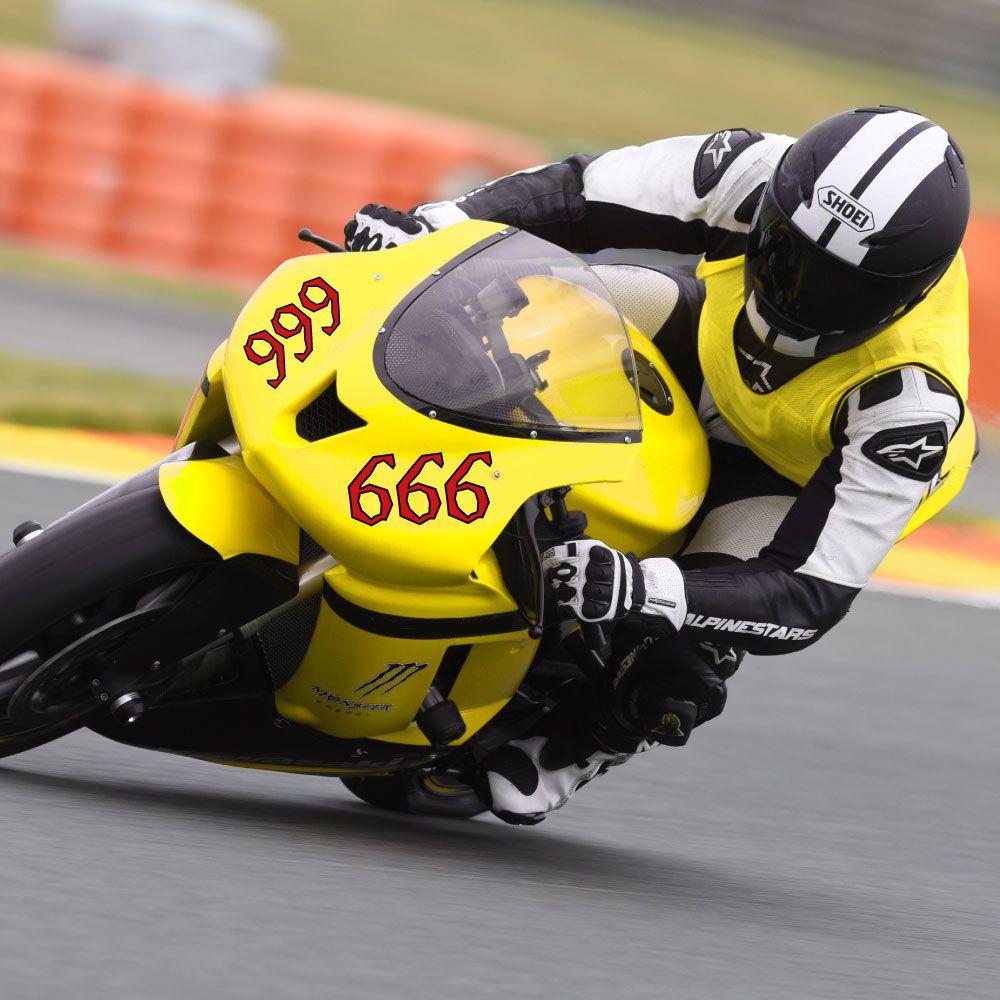 Motorsport Startnummern Aufkleber Zweifarbig Motocross