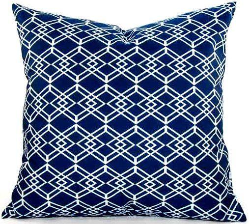 Diamond Pillow in Navy