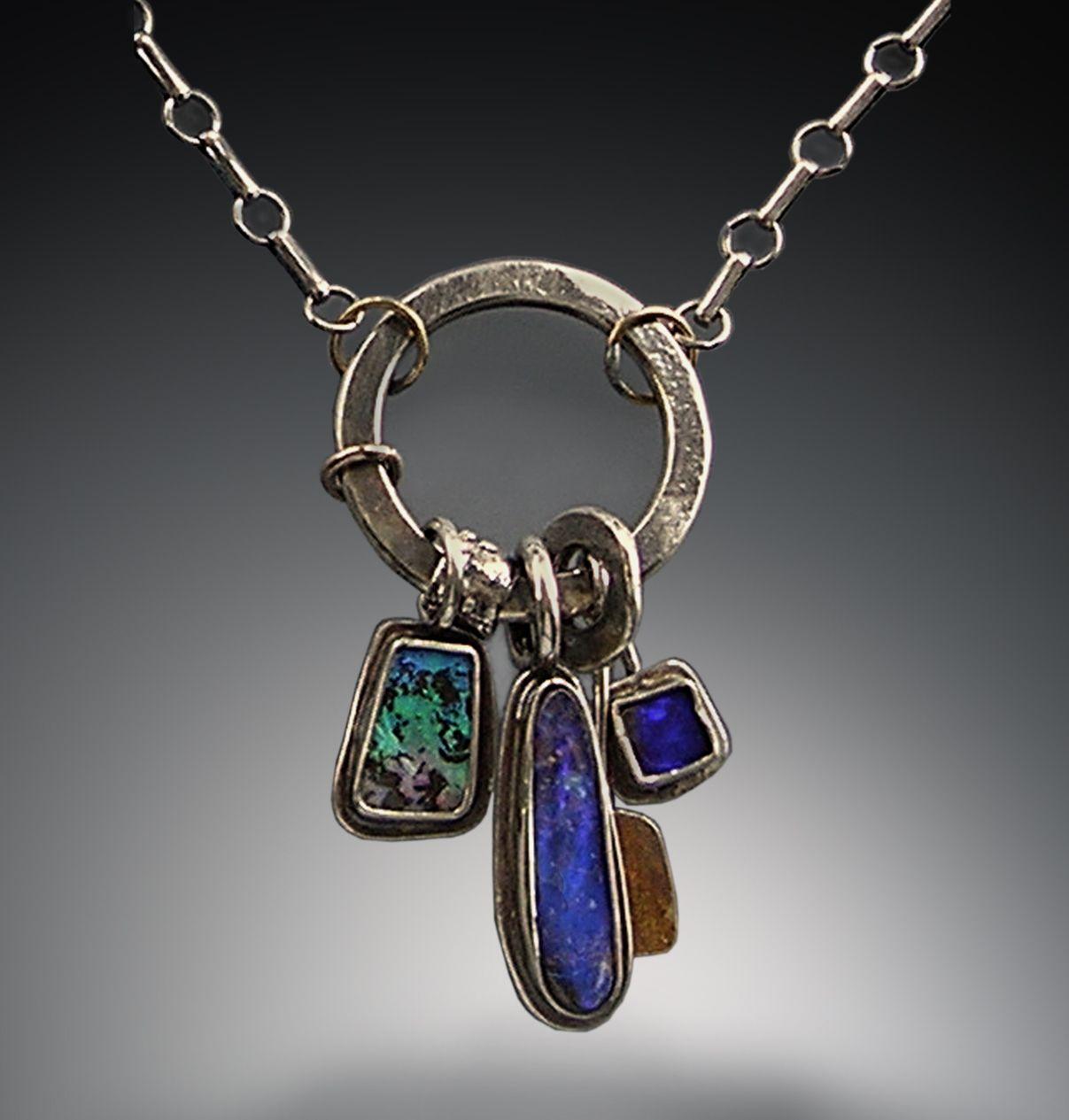 Boulder Opal Silver 22k Gold Patricia Mccleery Design