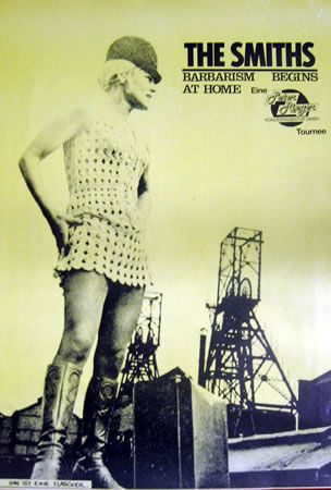 The Smiths Barbarism Begins At Home German Poster Uk Promo