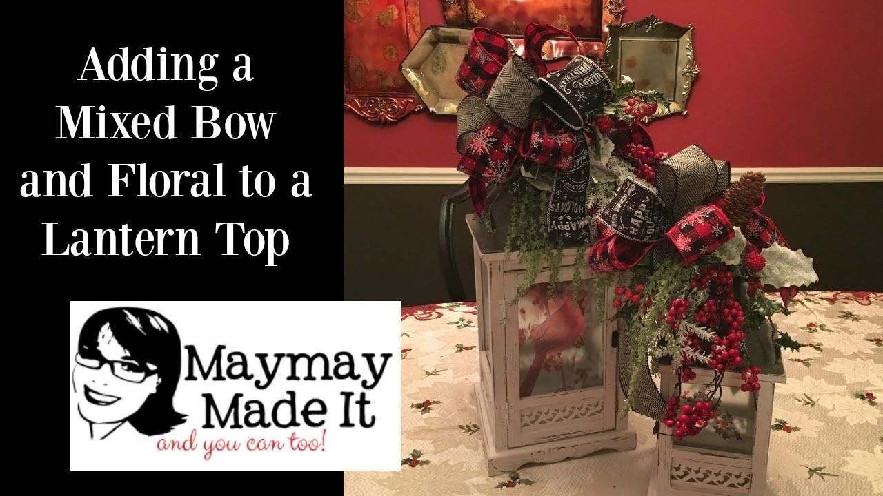 lantern topper with mixed ribbon bow tutorial maymay made it cards rh pinterest com