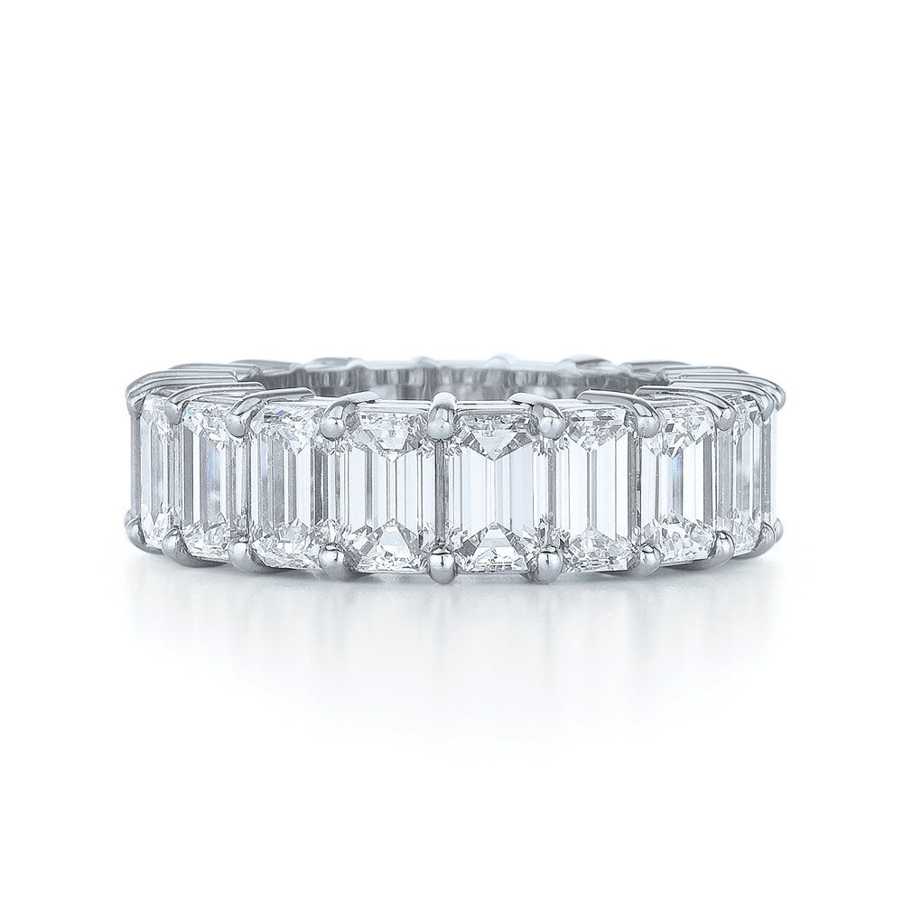 Emerald Cut Diamond Wedding Band Jewelry Engagement