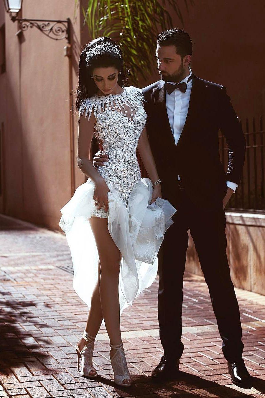 2019 Open Back Robes de mariée sirène Scoop Tulle With Applique Court Train € 248.56 LBRPJCF67R4