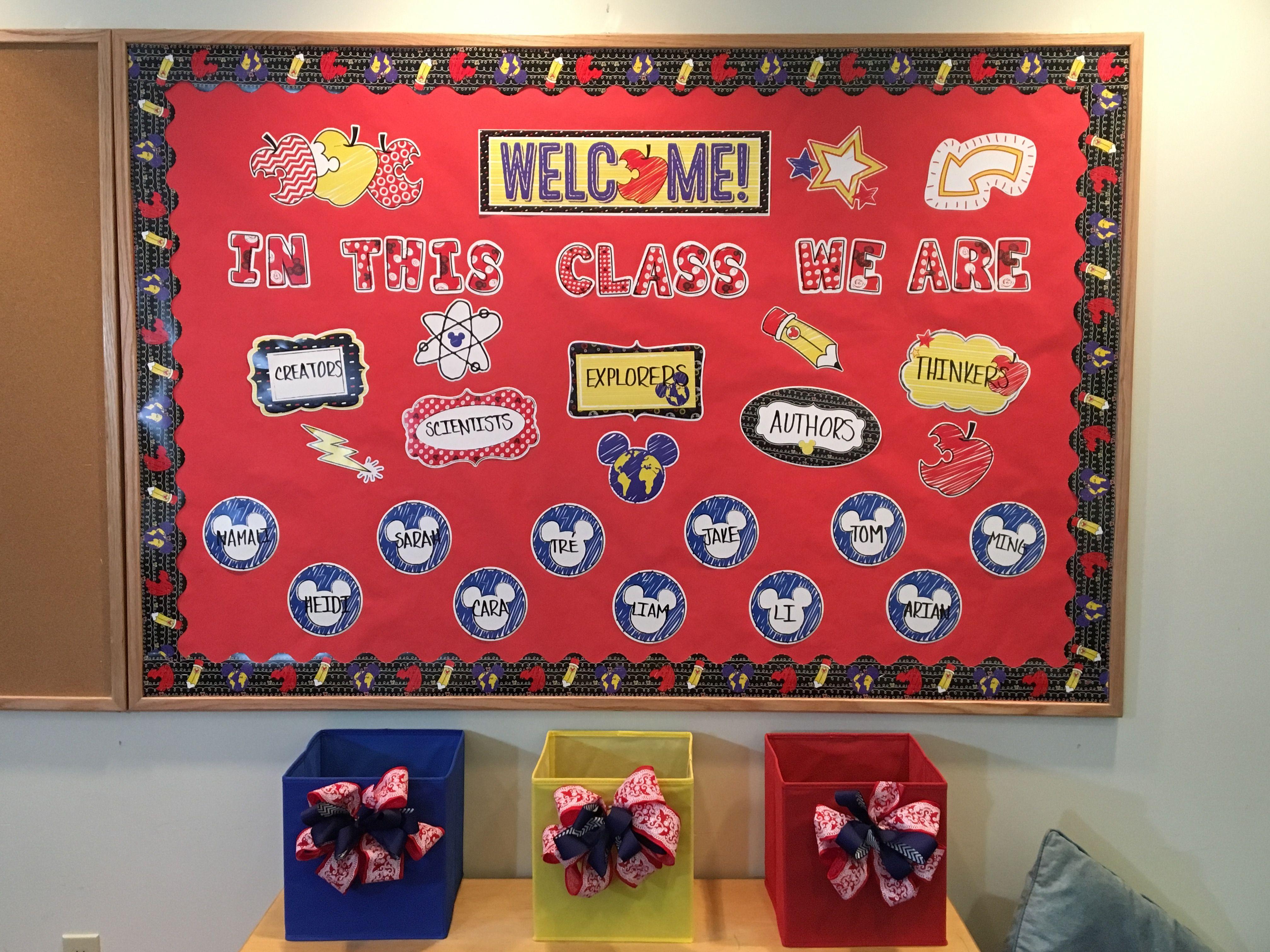 Disney Mickey Color Pop Classroom Decor Disney Bulletin
