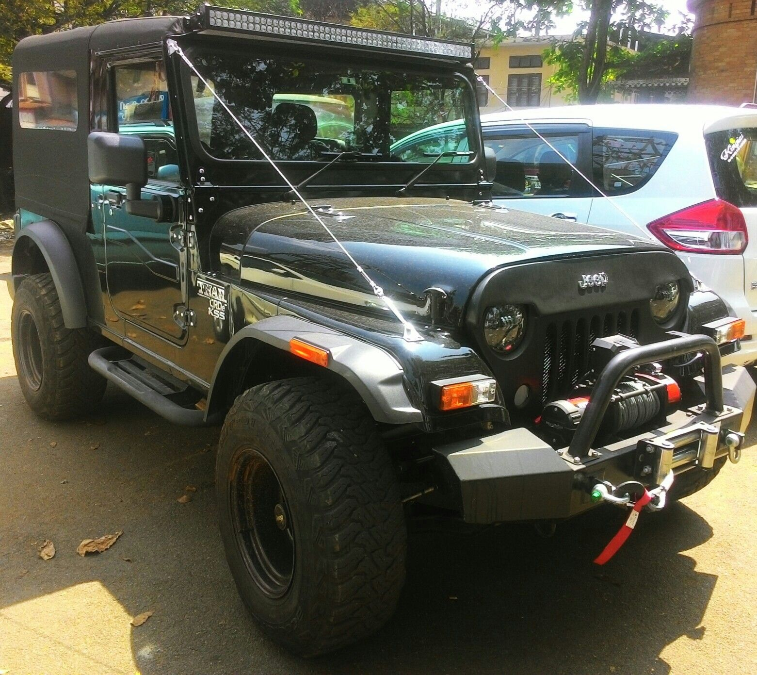 Thar Black Modified Jeep Jeep Bumpers Mahindra Thar Modified