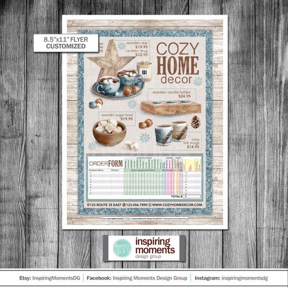 Business Flyer Printable Small Business Boutique Home Decor