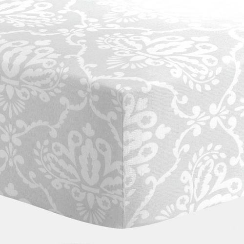 Gray Damask Crib Sheet 500x500 Image Crib Bedding Crib
