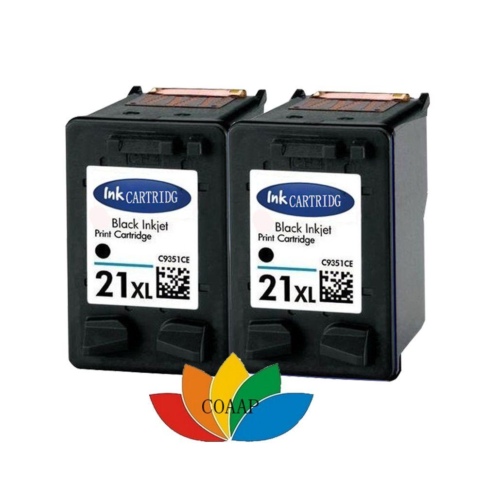 2pack Compatible HP 21 BLACK cartridge For hp21 Cartridge Ink For DESKJET 3910 3920 3930 3940 D1311 D1320 D1330 D1341 D1360