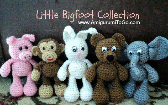 Original Little Bgfoot Monkey Free Crochet Pattern | Crochet ... | 401x640