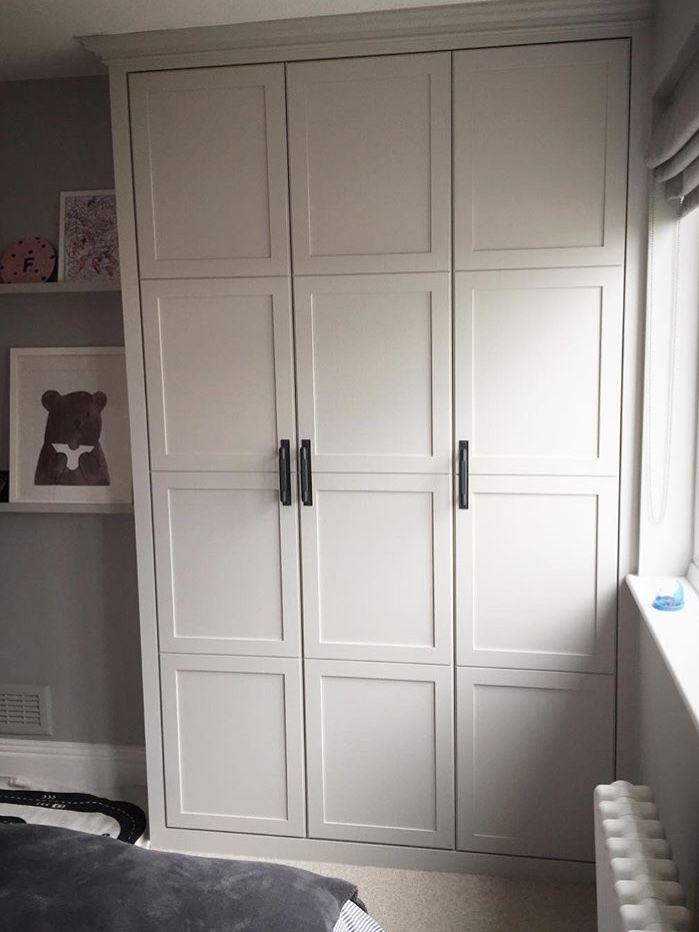 White shaker style wardrobe | Wardrobe door designs ...