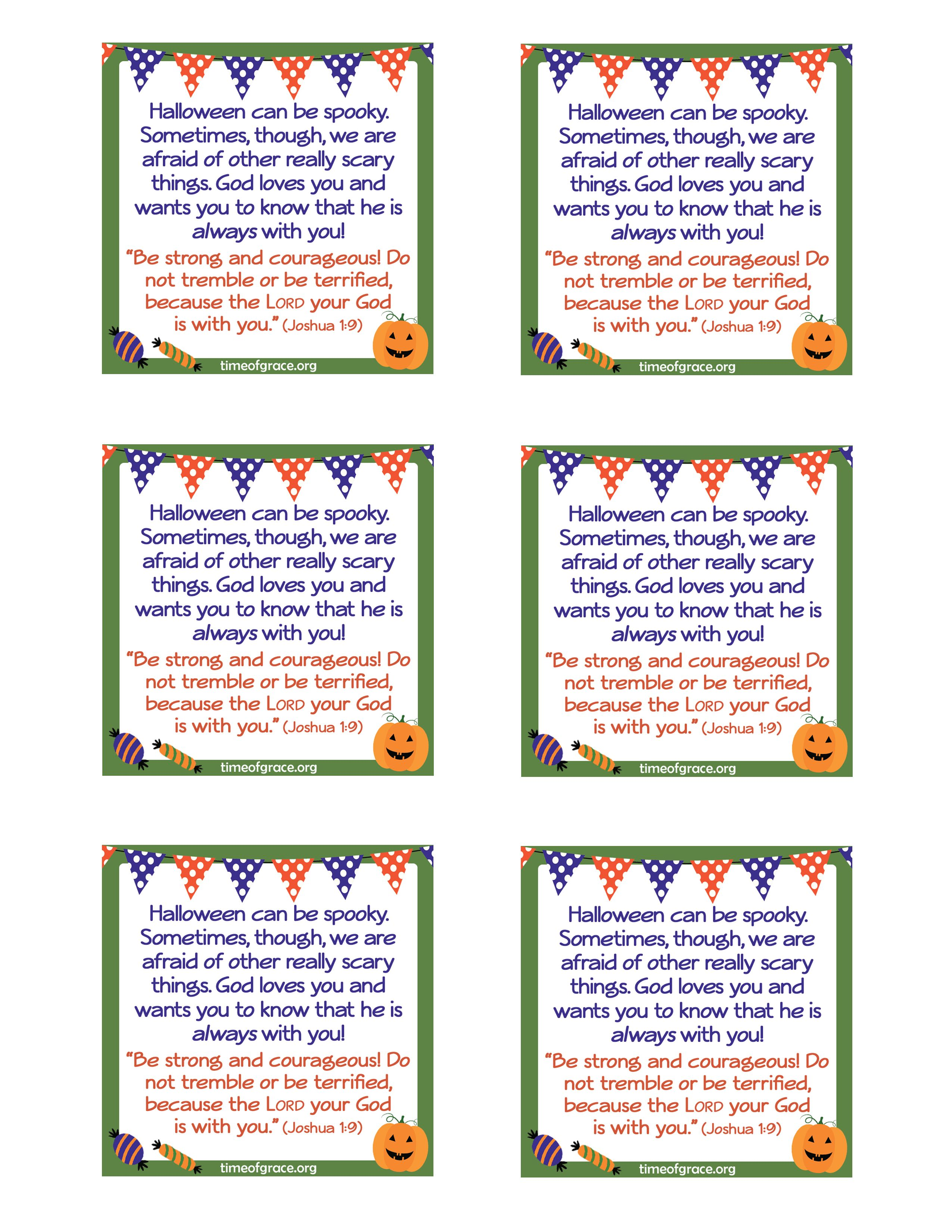 Free #printable cards with a message and scripture to hand out with ...