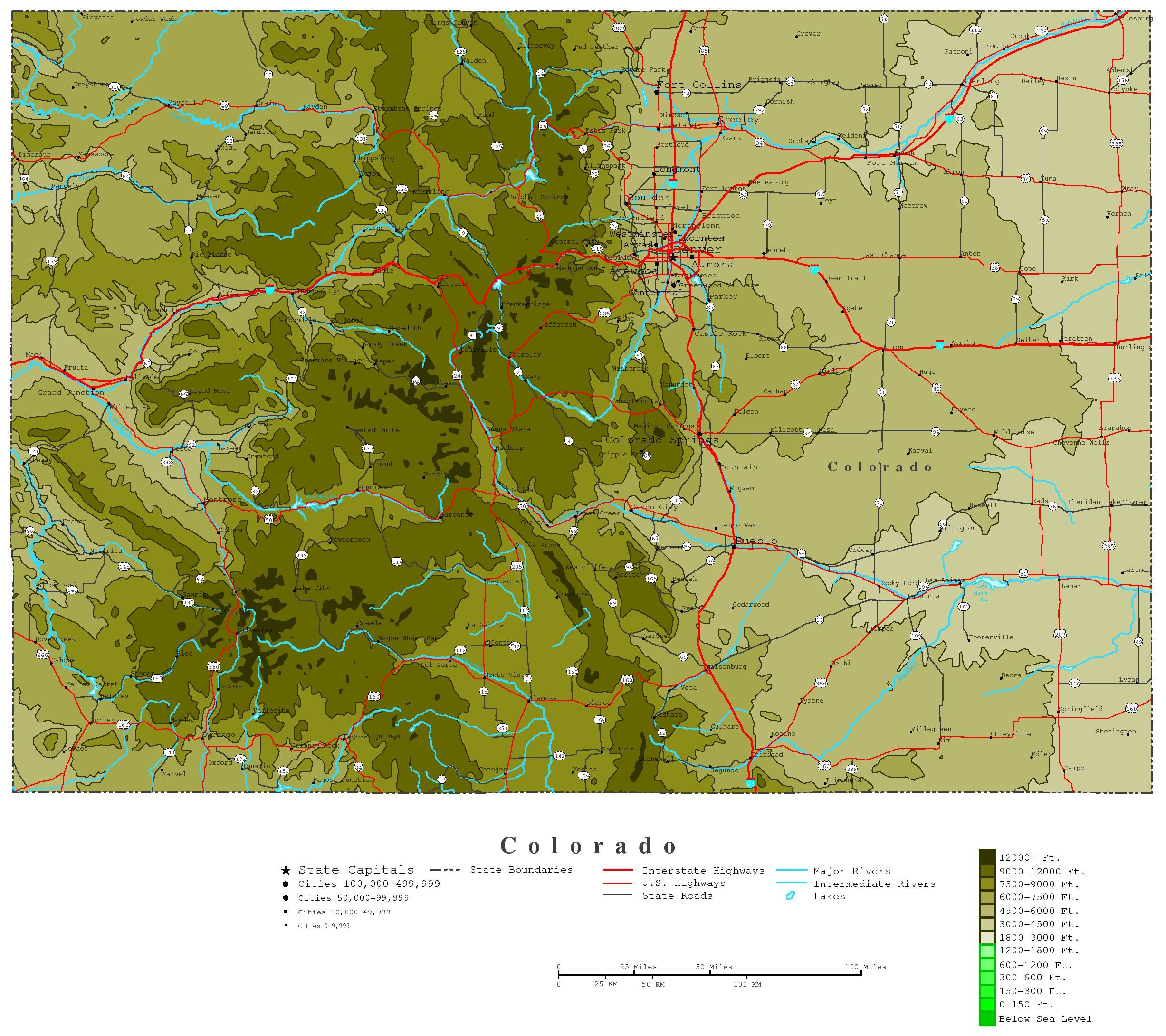 Colorado Map Online Maps Of Colorado State Colorado Pinterest