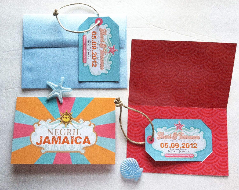 Luggage Tag Save the Date @Megan Azzarello | Wedding | Pinterest ...
