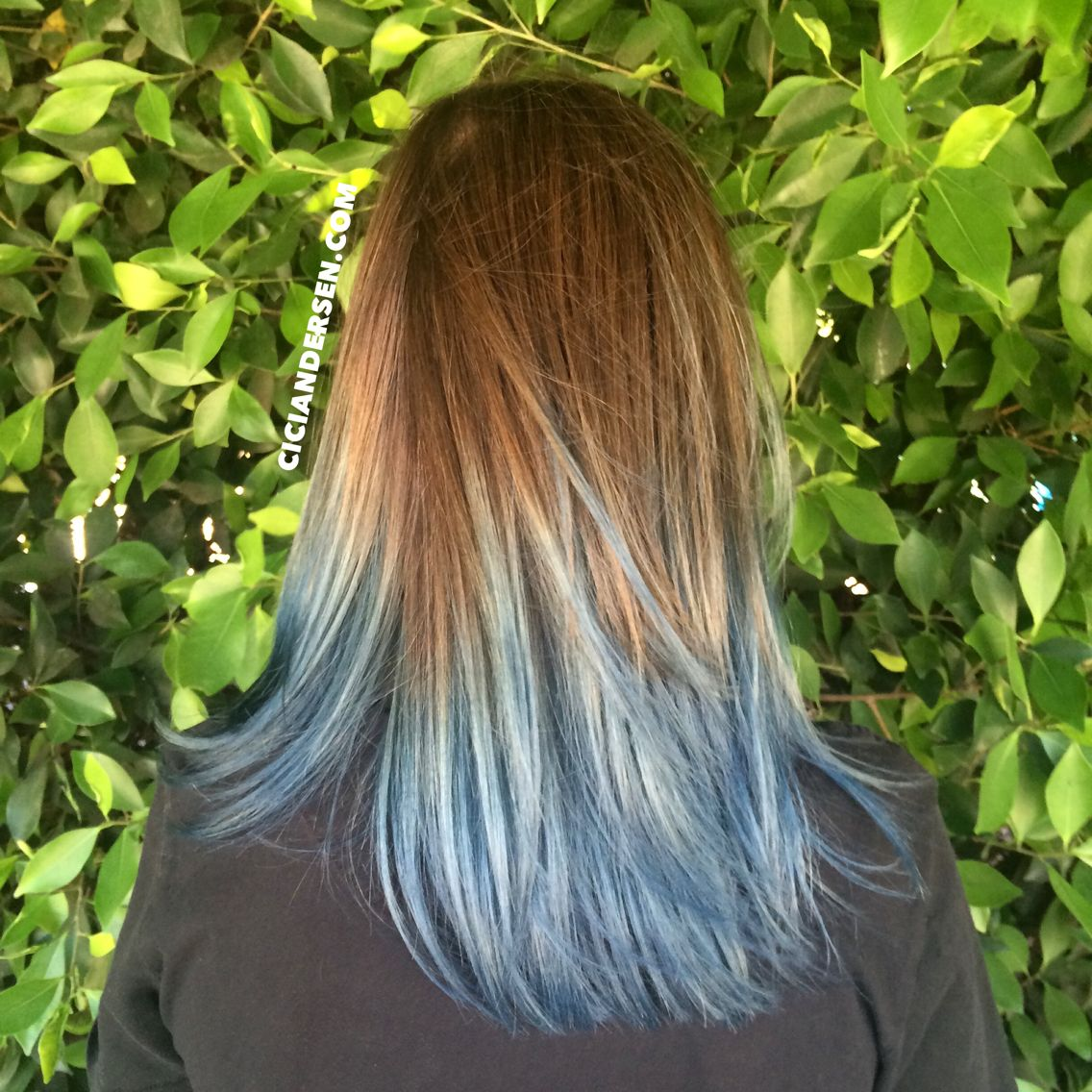 Brown To Light Blue Ombr 233 Hair Looks Almost Blue Silver