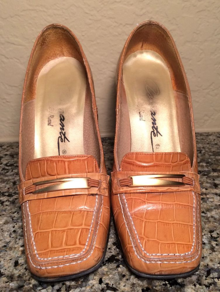 Vintage Patent Tan Heels Size 5.5 #Unknown #PumpsClassics