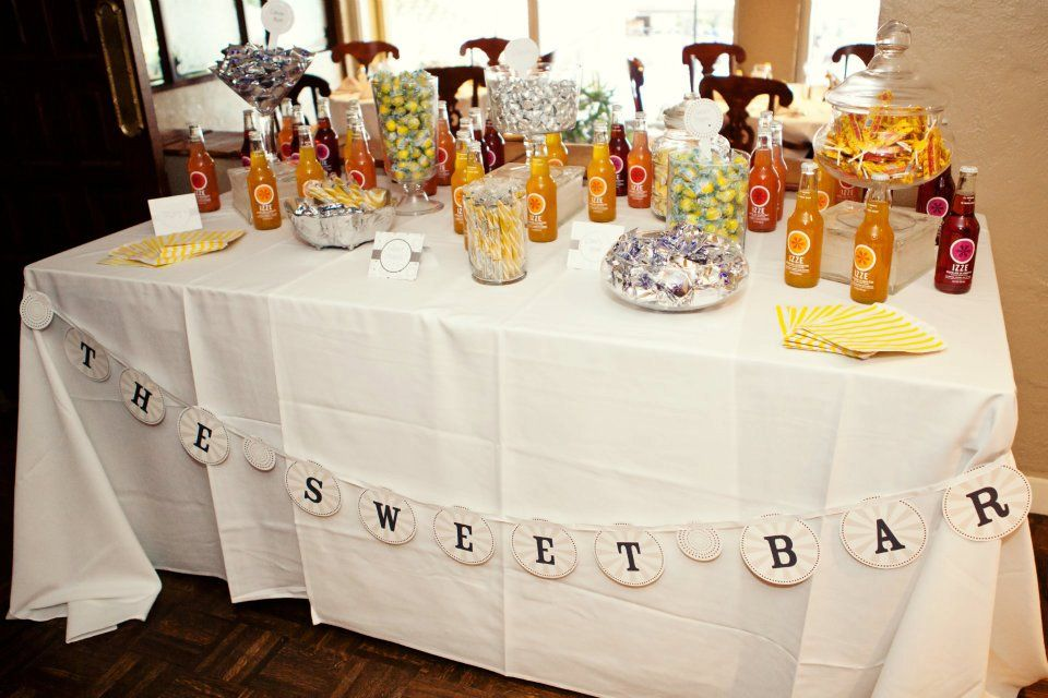 gray and yellow candy bar www.nicolesquaredevents.com