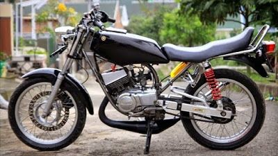 Foto Gambar Modifikasi Motor Rx King Warna Hitam Motor Mobil