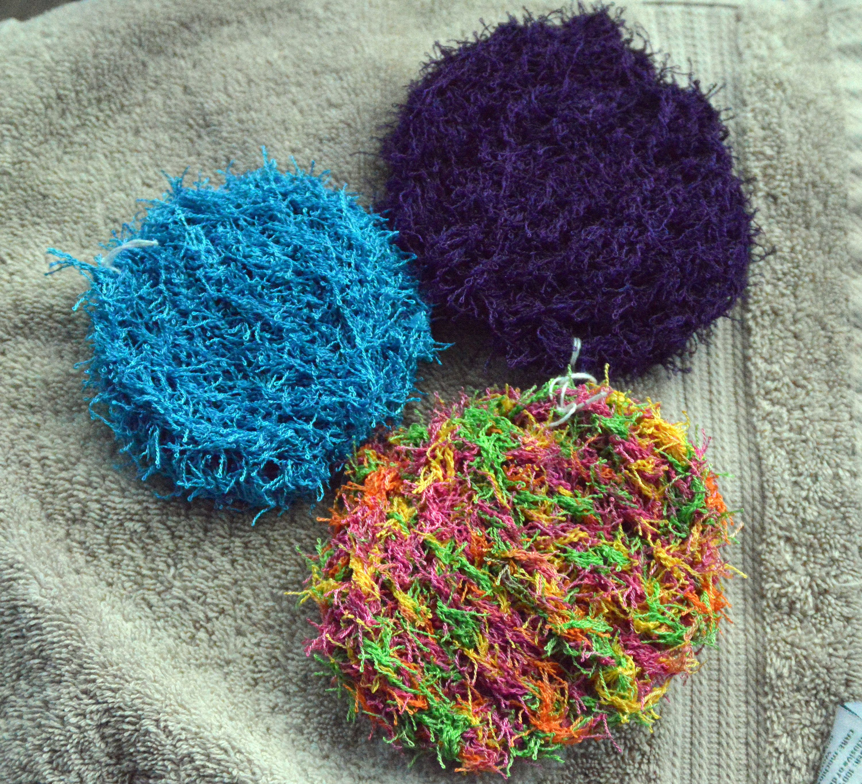 Handmade Dish Scrubbies, Crochet Kitchen Scrubby, Pot Scrubbies, Pan ...