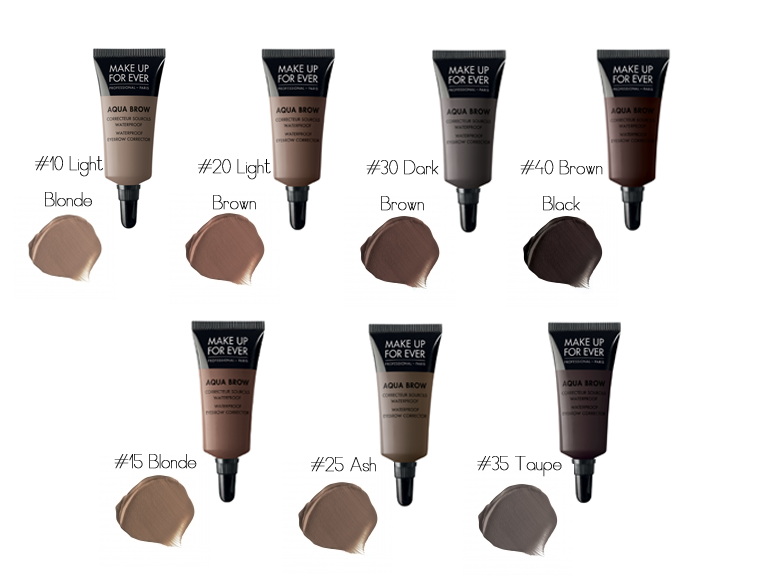 Makeup Forevers Aqua Brow Highly Pigmented Gel Formula Is