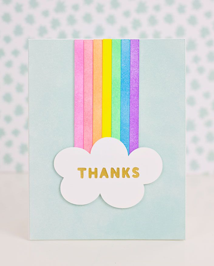 Don't have a stack of colored cardstock? No problem! See how you can create a bright & colorful handmade card by coloring with ink.