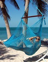 Caribbean Jumbo Hammock Chair - Turquoise