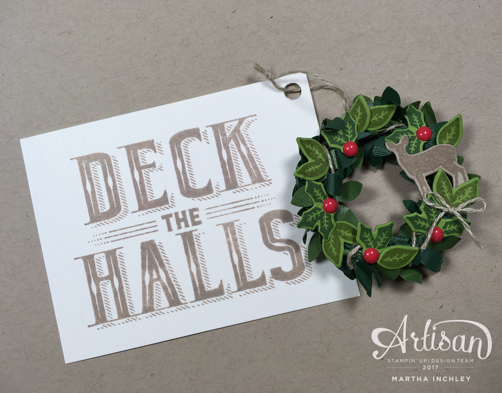 A teeny tiny Christmas wreath? (insert delighted squeals here). So ...