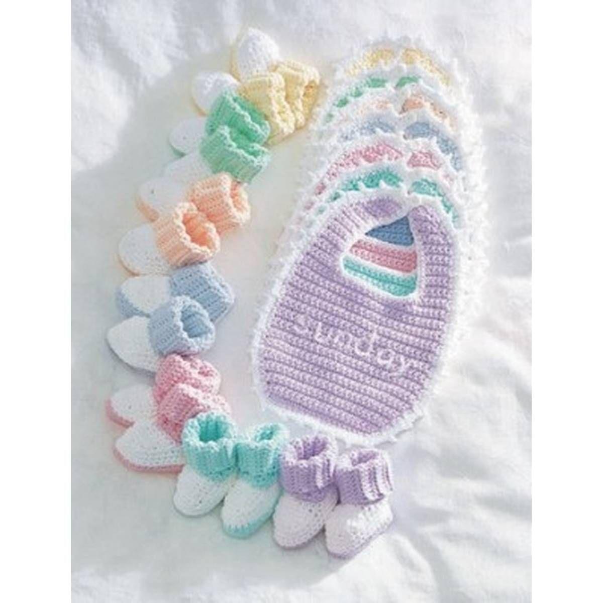 Free Pattern Lily Sugar \'N Cream Baby Crochet Everyday Set ...